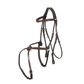 Greenfield Selection 718/Q1 - Bridle with mexican noseband - cow leather