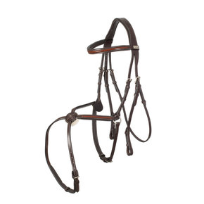 718/Q2 - Bridle mexican noseband- calf leather