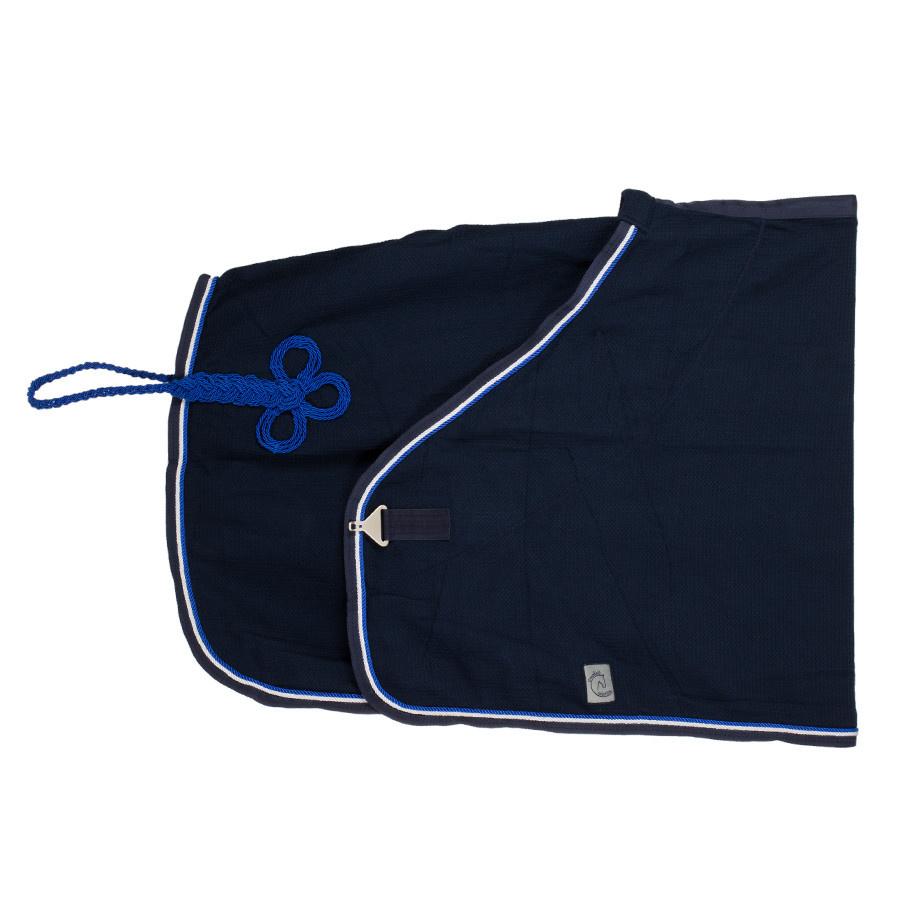 Greenfield Selection Honeycomb deken - blauw/blauw-wit/koningsblauw