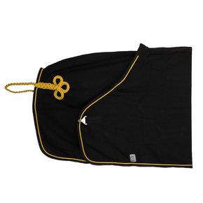 Honeycomb deken - zwart/zwart-goud