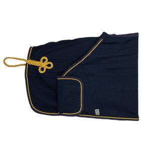Publicity honeycomb rug - navy/navy-gold