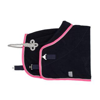 Greenfield Selection Fleece deken pony - blauw/fushia-zilvergrijs