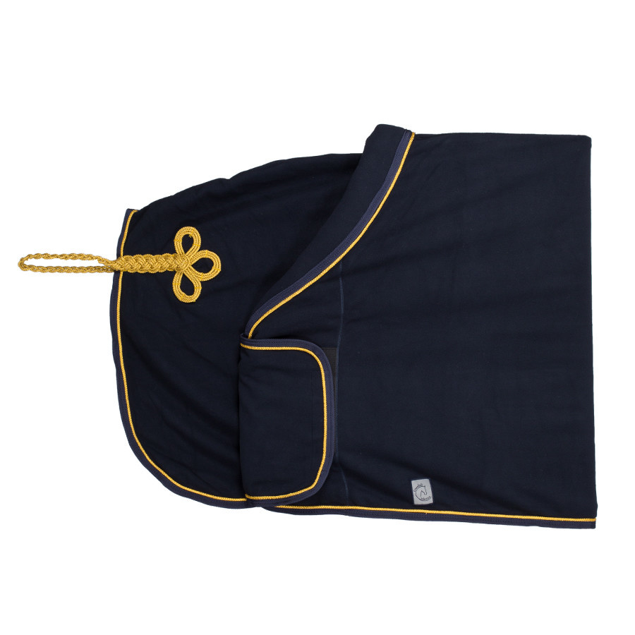 Greenfield Selection Fleece publiciteitsdeken - blauw/blauw-goud