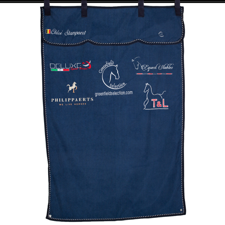 Embroidery - Stable curtain