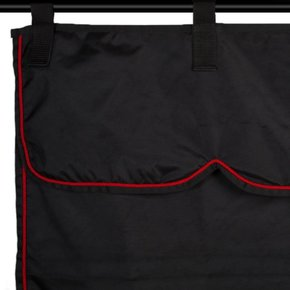 Stable curtain black/black - red