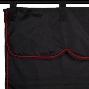 Stalgordijn zwart/zwart - rood