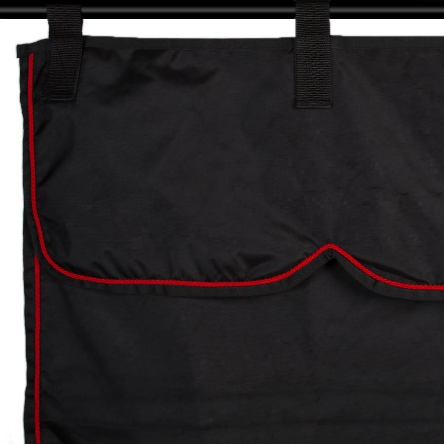 Greenfield Selection ST3 - Stable curtain black/black - red