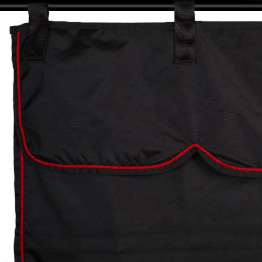 Greenfield Selection ST3 - Stalgordijn zwart/zwart - rood