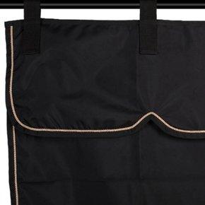 Stalgordijn zwart/zwart - beige