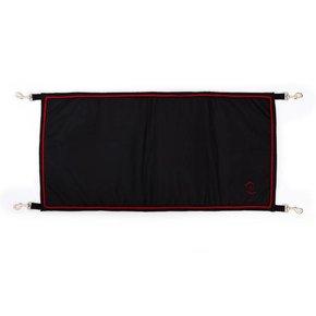 Staldeurdoek zwart/zwart - rood