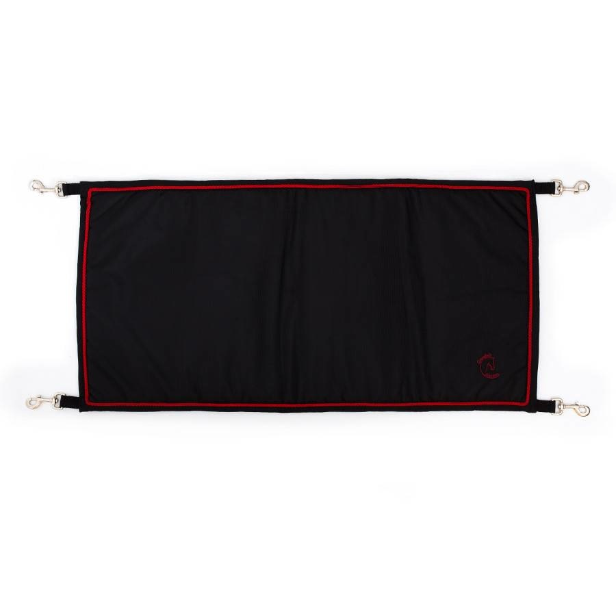 Greenfield Selection Staldeurdoek zwart/zwart - rood