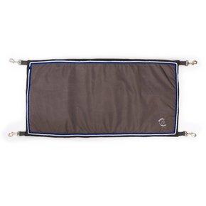 Porte de boxe gris/gris - gris argent/bleu royal