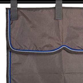 Stalgordijn grijs/grijs - zilvergrijs/koningsblauw