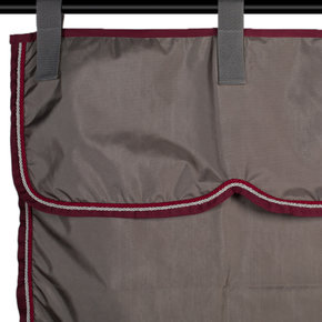Stable curtain grey/burgundy - silver grey/burgundy