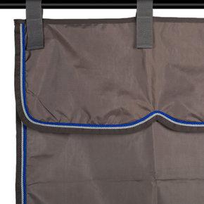 Sac de rangement gris/gris - gris argent/bleu royal