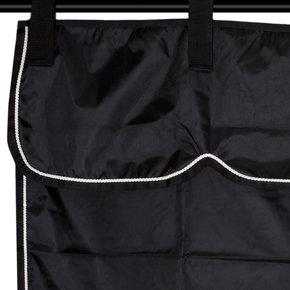 Stable curtain black/black - white