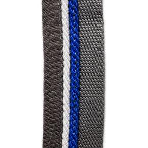 Zadeldoekhouder grijs/grijs - zilvergrijs/koningsblauw