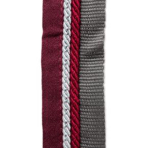 Saddle pad holder grey/burgundy - silvergrey/burgundy