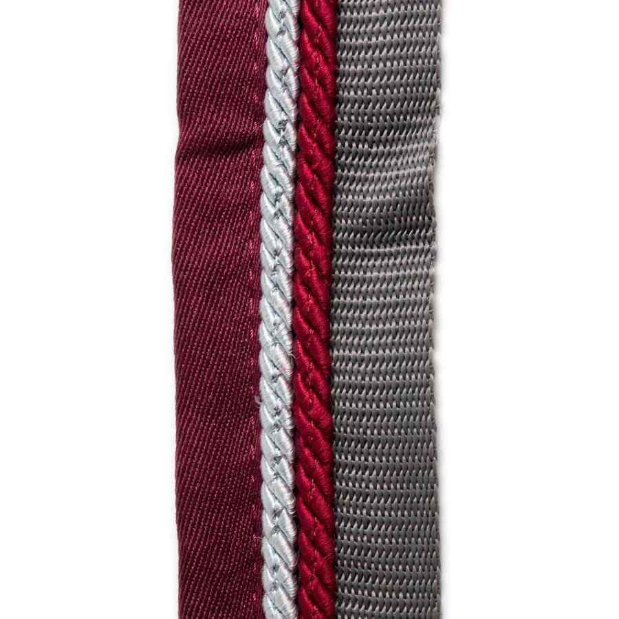 Greenfield Selection Saddle pad holder grey/burgundy - silvergrey/burgundy