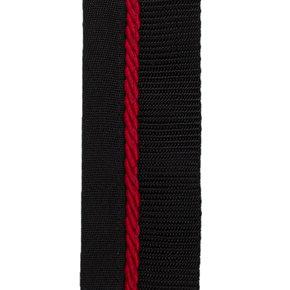 Zadeldoekhouder zwart/zwart - rood