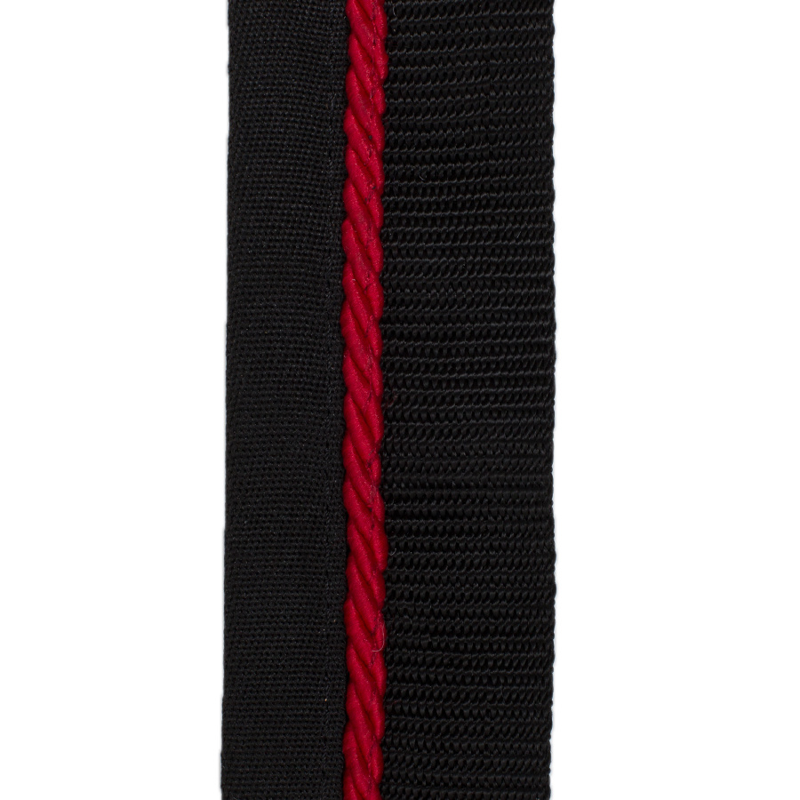 Greenfield Selection Zadeldoekhouder zwart/zwart - rood
