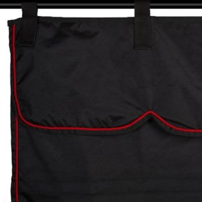 Stalset zwart/zwart - rood