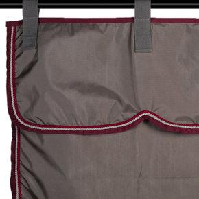 Stable set grey/burgundy - silver grey/burgundy