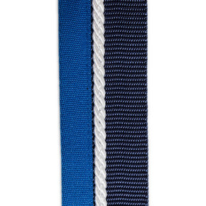 Saddle pad holder navy/light blue - white
