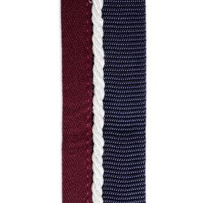 Porte tapis bleu marine/bordeaux - blanc