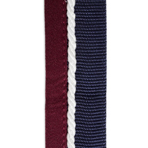 Saddle pad holder navy/burgundy - white
