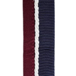 Greenfield Selection Saddle pad holder navy/burgundy - white