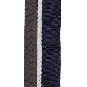 Saddle pad holder navy/grey - white
