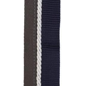 Zadeldoekhouder blauw/grijs - wit