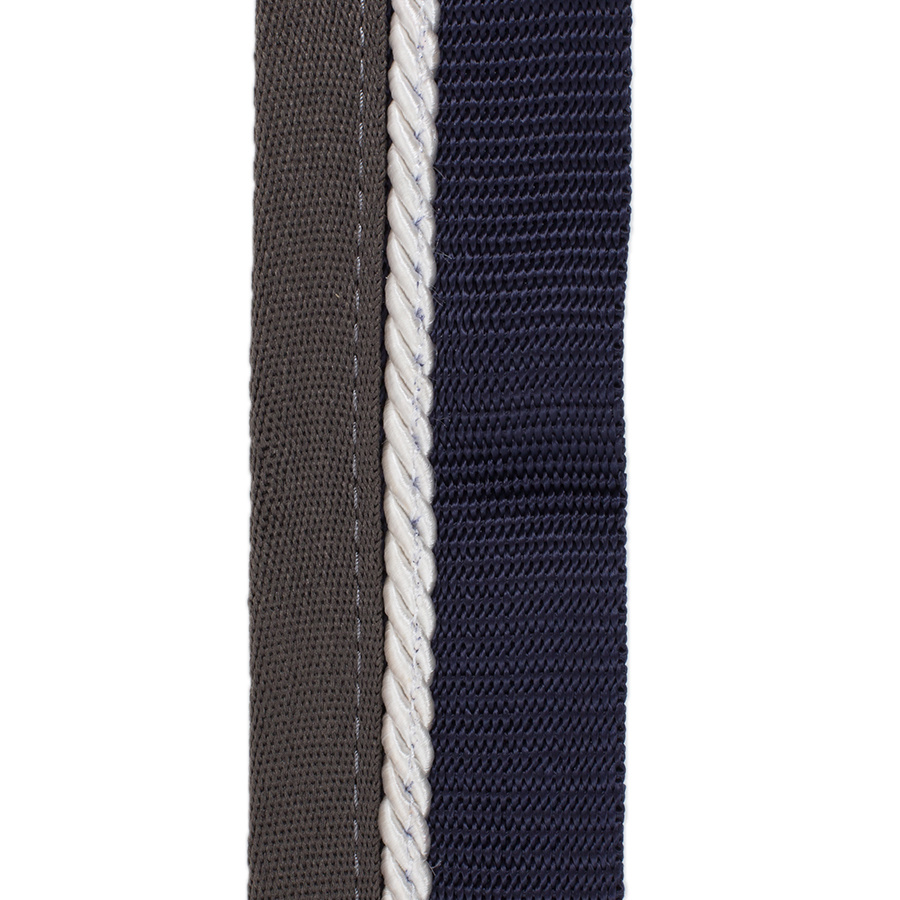 Greenfield Selection Saddle pad holder navy/grey - white