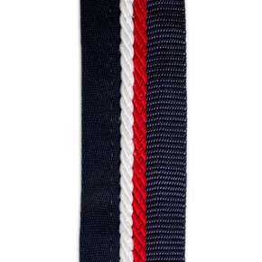 Saddle pad holder navy/navy - white/red