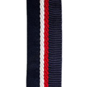 Zadeldoekhouder blauw/blauw - wit/rood