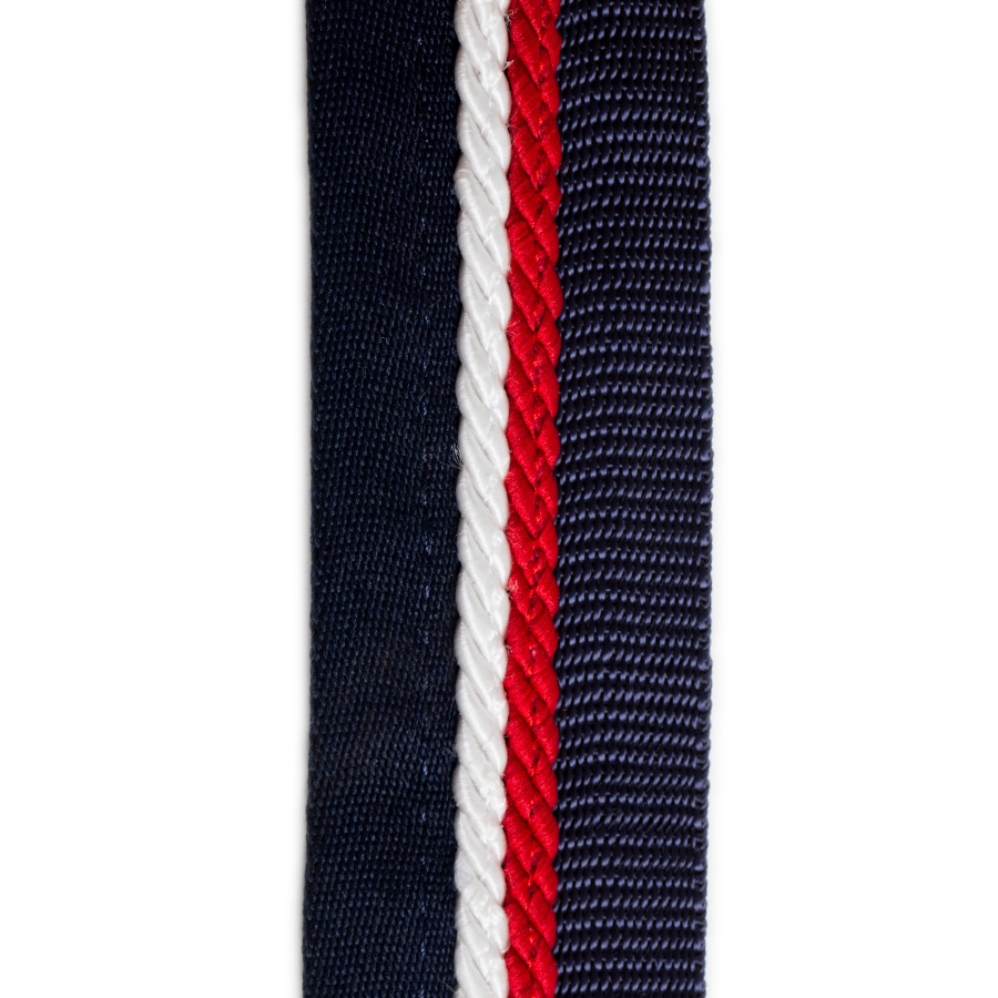 Greenfield Selection Saddle pad holder navy/navy - white/red