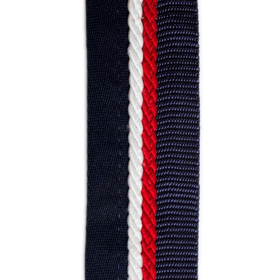 Greenfield Selection Zadeldoekhouder blauw/blauw - wit/rood