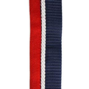 Porte tapis bleu marine/rouge - blanc