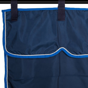 Storage bag navy/ light blue - white