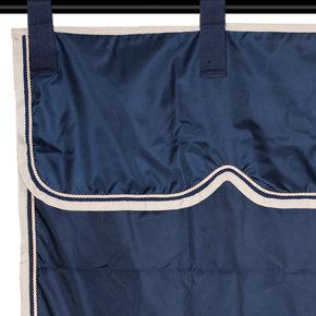 Stalgordijn blauw/beige - blauw/beige