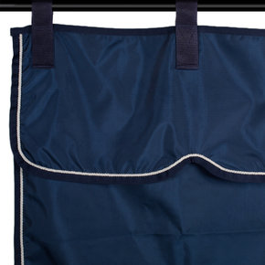 Stable curtain navy/navy - white