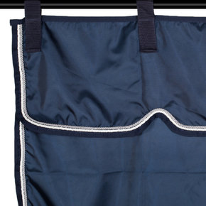 Stable curtain navy/navy - white/silvergrey