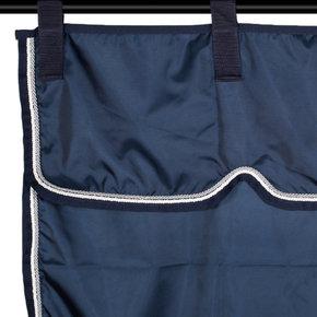 Tenture bleu marine/bleu marine - blanc/gris argent