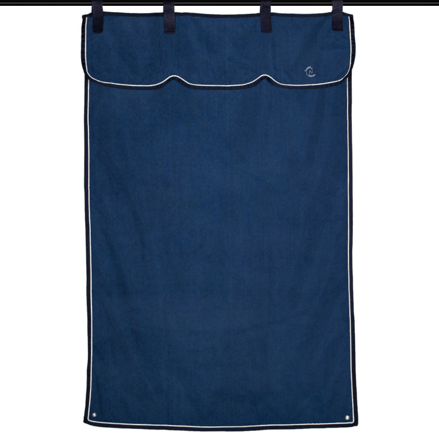 Greenfield Selection Stable curtain navy/navy - white/silvergrey