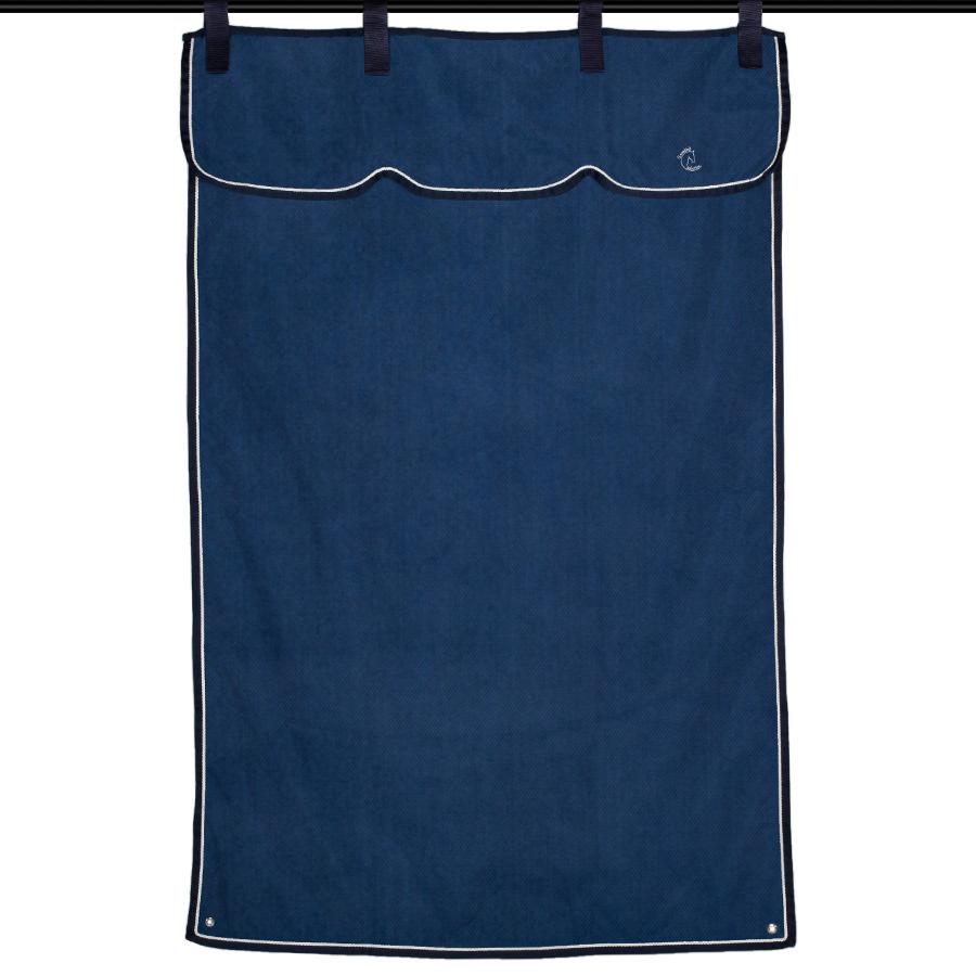 Greenfield Selection Stalgordijn blauw/blauw - wit/zilvergrijs