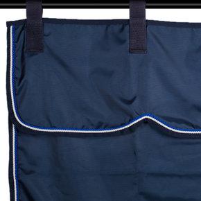 Stalgordijn blauw/blauw - wit/koningsblauw