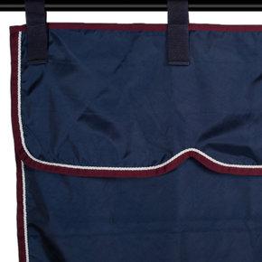 Stable curtain navy/burgundy - white