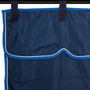 Stable curtain navy/light blue - white