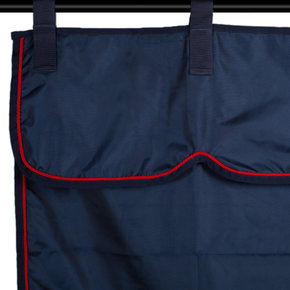 Stable curtain navy/navy - red